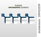 business infographics vector... | Shutterstock .eps vector #399425359