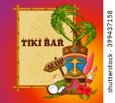 vector design of tiki bar... | Shutterstock .eps vector #399437158