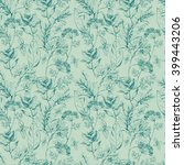 vector seamless floral pattern... | Shutterstock .eps vector #399443206
