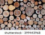 background stack of wood   Shutterstock . vector #399443968