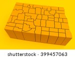 north dakota   3d illustration | Shutterstock . vector #399457063