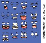cartoon faces with different... | Shutterstock .eps vector #399459760