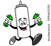 mayonnaise running with money | Shutterstock .eps vector #399465550