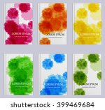 templates. set of flyer ... | Shutterstock .eps vector #399469684