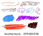 set of colored brush strokes | Shutterstock .eps vector #399484558