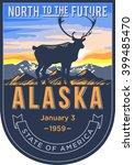 alaska state emblem  the dawn... | Shutterstock .eps vector #399485470