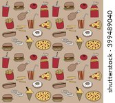 fast food doodle icon... | Shutterstock .eps vector #399489040