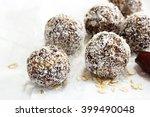 oats coconut balls   protein... | Shutterstock . vector #399490048