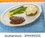 Hamburger Steak In Brown Gravy...