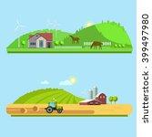 farm life  natural economy ... | Shutterstock . vector #399497980