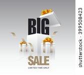 big sale card gray background | Shutterstock .eps vector #399508423