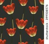 realistic tulips vector...   Shutterstock .eps vector #399508576