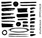 set of hand drawn grunge... | Shutterstock .eps vector #399514618