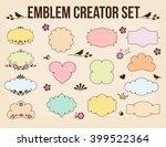 emblem creator vector set