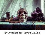 voodoo evil skull ritual.... | Shutterstock . vector #399523156