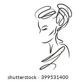 stylish  original hand drawn ... | Shutterstock . vector #399531400