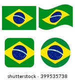 set of icons with brazil flag | Shutterstock .eps vector #399535738