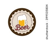isolated label with a beer mug... | Shutterstock .eps vector #399535804