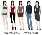 outfits | Shutterstock .eps vector #399537130
