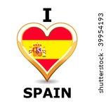 i love spain | Shutterstock .eps vector #39954193
