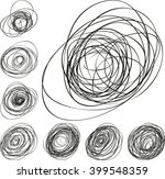 pressure sensitive doodle line... | Shutterstock .eps vector #399548359