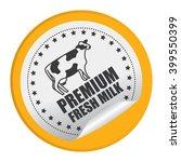 yellow circle premium fresh... | Shutterstock . vector #399550399