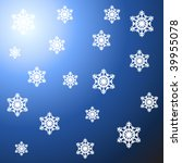 snowflake background | Shutterstock .eps vector #39955078