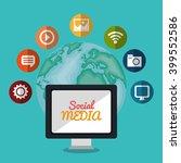 social media design    Shutterstock .eps vector #399552586