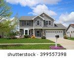 modern style suburban home | Shutterstock . vector #399557398
