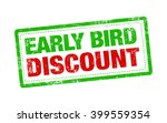 early bird discount red stamp... | Shutterstock . vector #399559354