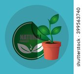 natural and eco  design  vector ... | Shutterstock .eps vector #399563740