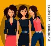 portrait of three young women | Shutterstock . vector #399565468