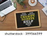 charity donate give concept... | Shutterstock . vector #399566599
