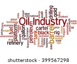 oil industry  word cloud... | Shutterstock . vector #399567298