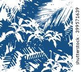 tropical jungle foliage pattern ... | Shutterstock .eps vector #399571639