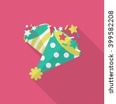 party hat icon   vector flat... | Shutterstock .eps vector #399582208