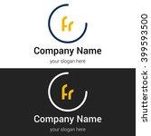 fr business logo icon design... | Shutterstock .eps vector #399593500