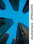 looking up at shanghai modern... | Shutterstock . vector #399601054
