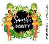 brazilian samba dancers. a... | Shutterstock .eps vector #399603658
