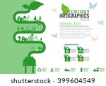 ecology connection electrical... | Shutterstock .eps vector #399604549