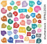 sale stickers and tags... | Shutterstock .eps vector #399612034