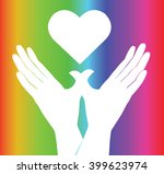 hand and heart rainbow...