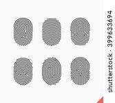 fingerprint icons set. vector. | Shutterstock .eps vector #399633694