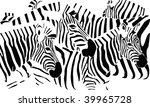 zebras | Shutterstock .eps vector #39965728