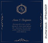 wedding invitation with monogram | Shutterstock .eps vector #399664009