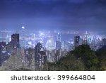 hong kong island from victoria... | Shutterstock . vector #399664804