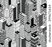 skyscraper city seamless...   Shutterstock .eps vector #399671614