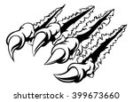 monster claw ripping  tearing... | Shutterstock .eps vector #399673660