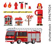 fire department flat icons... | Shutterstock .eps vector #399679024
