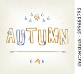 autumn typographic. fall leaf.... | Shutterstock .eps vector #399681793